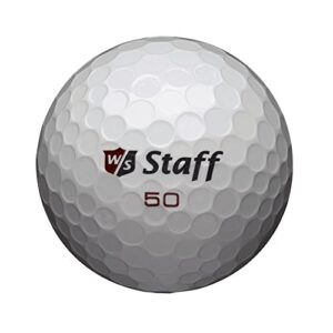 Wilson Golf Staff Fifty Elite Golf Balls, Dozen Slide Pack, White – WGWP17002