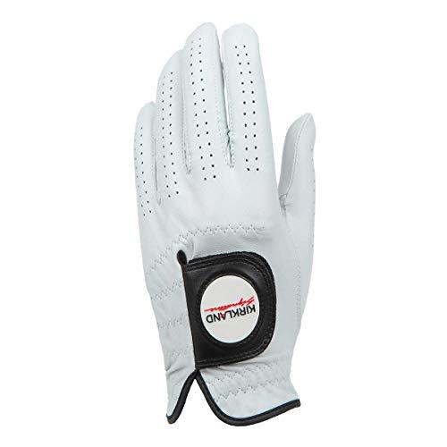 KIRKLAND SIGNATURE Golf Gloves Premium Cabretta Leather, Medium, 4 Pack