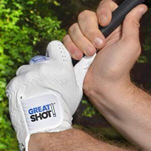 Great Shot Golf Glove The Birdie AAA Premium Cabretta Leather (X-Large, Worn on Left Hand)