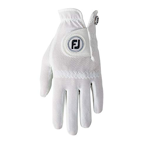 FootJoy Women's StaCooler Golf Glove, Pearl Small, Worn on Left Hand