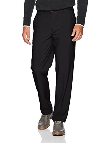 IZOD Men's Golf Swing Flex Stretch Flat Front Pant, black, 38W X 32L