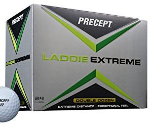 Precept 2017 Laddie Extreme Golf Balls (24 Balls), White
