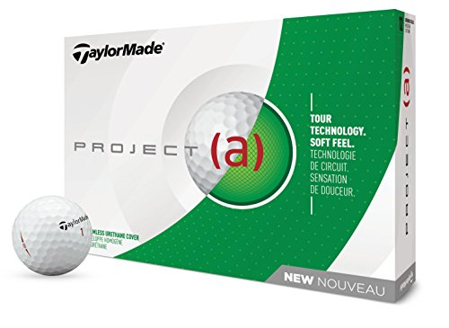 TaylorMade Project (a) Golf Balls, White (One Dozen)