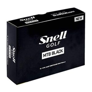 Snell MTB Black My Tour Golf Balls, White (One Dozen)