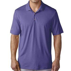 adidas Golf Men's Golf Performance Polo Shirt, Purple, Large