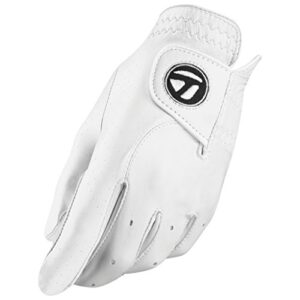 TaylorMade Tour Preferred Glove (White, Left Hand, Medium/Large), White(Medium/Large, Worn on Left Hand)