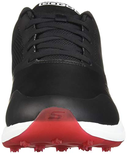 Skechers mens Max Golf Shoe, Black/Red, 10 US