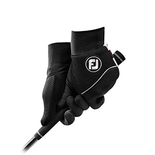 FootJoy Men's WinterSof Pair Golf Glove Black Large, Pair
