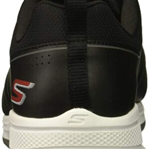 Skechers Men's Torque Waterproof Golf Shoe, Black/red, 10.5 M US