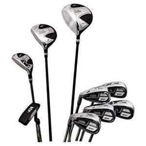 Club Champ Men's Complete DTP (Designed to Play) Golf Club Set, Left Hand-9 pcs