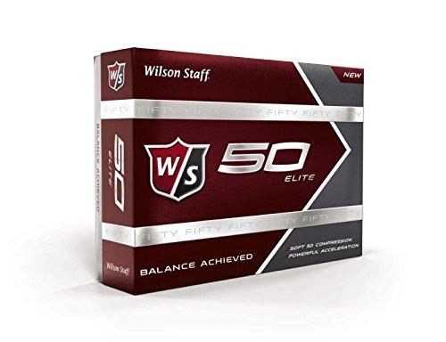 Wilson Golf Staff Fifty Elite Golf Balls, Dozen Slide Pack, White – WGWP17002