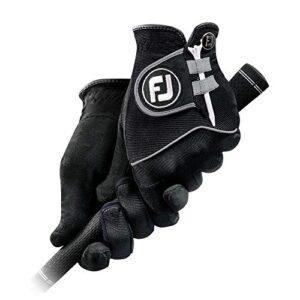 FootJoy Men's RainGrip Pair Golf Glove Black Medium/Large, Pair