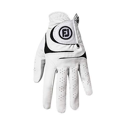FootJoy Women's WeatherSof Golf Glove, White Medium, Worn on Left Hand
