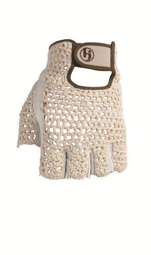 HJ Glove Women's Snow White Original Half Finger Golf Glove, X-Large, Left Hand