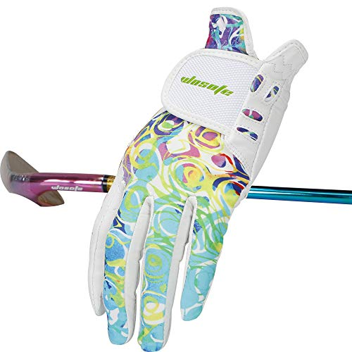 wosofe Golf Gloves for Women Soft Leather Accessories Breathable for Non Slip Gloves 1 Pair