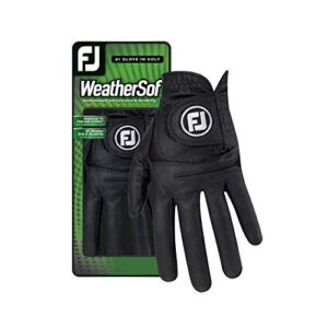FootJoy Men's WeatherSof Golf Glove Black Medium/Large, Worn on Left Hand