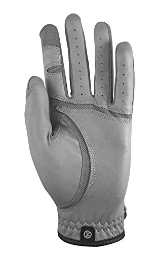 Zero Friction GL70009 Men's Cabretta Elite Golf Gloves, Grey, One Size, Left Hand