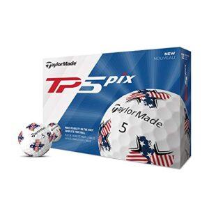 TaylorMade TP5 Pix USA Golf Balls (One Dozen)