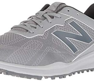 New Balance Men's Breeze Breathable Spikeless Comfort Golf Shoe, Grey, 11D D US