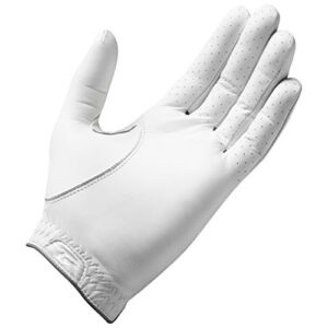 TaylorMade Tour Preferred Flex Glove (White, Left Hand, Medium), White(Medium, Worn on Left Hand)
