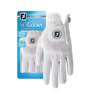 FootJoy Women's StaCooler Golf Glove, Pearl Small, Worn on Left Hand