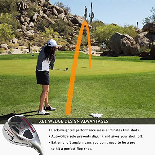 xE1 Sand Wedge & Lob Wedge– The Out-in-One Golf Wedge, Pitching and Chipping Wedge– Legal for Tournament Play Golf Club for Men & Women (Left, Steel, Wedge, 59)