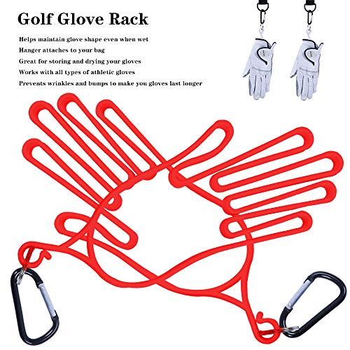 HOW TRUE 2 Pcs Golf Gloves Holder/Dryer/Hanger/Stretcher Plastic Sport Gloves Support Frame, Red
