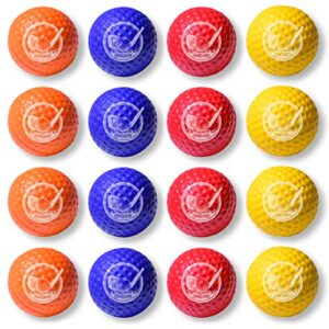 GoSports Foam Golf Practice Balls – 16 Pack | Realistic Feel and Limited Flight | Use Indoors or Outdoors