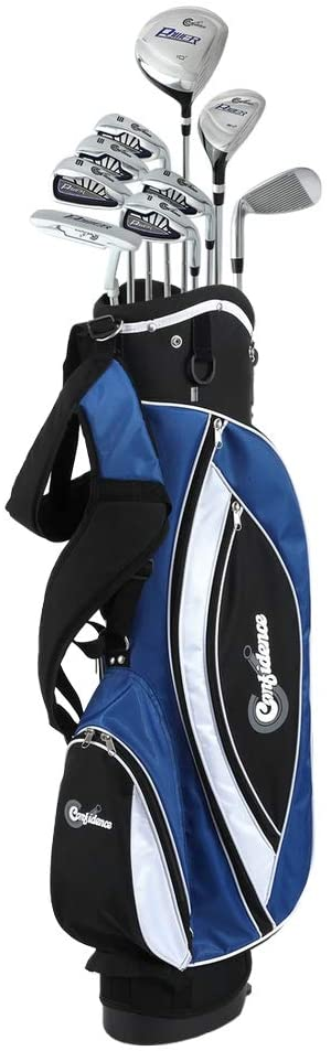 """Confidence Golf Mens Power V3 Hybrid Club Set & Stand Bag Lefty</h1><div class=""""star-rating""""><span style=""""width:80%""""><strong itemprop=""""ratingValue"""" class=""""rating"""">4</strong> out of 5</span></div>"""