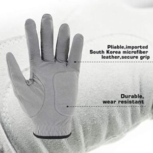 Craftsman Golf 3-Pack Golf Gloves Gray (Medium/Large)