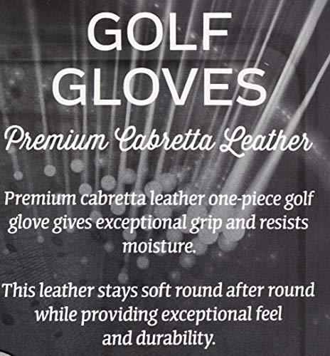 KIRKLAND SIGNATURE Golf Gloves Premium Cabretta Leather, Large, 4 Pack