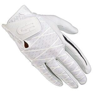 Grip Boost Men's Right Hand Golf Glove Cabretta Leather Sheep Skin No-Slip Golf Gloves – Size Medium – White