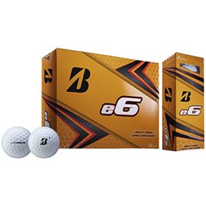 Bridgestone 2019 e6 White Golf Balls (One Dozen)