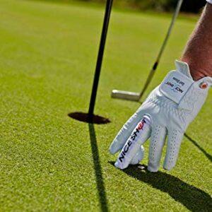 "Nice Shot ""The Bird Cabretta Leather Golf Glove Men's Left Hand White Large L | Premium & Genuine AAA Cabretta Leather"