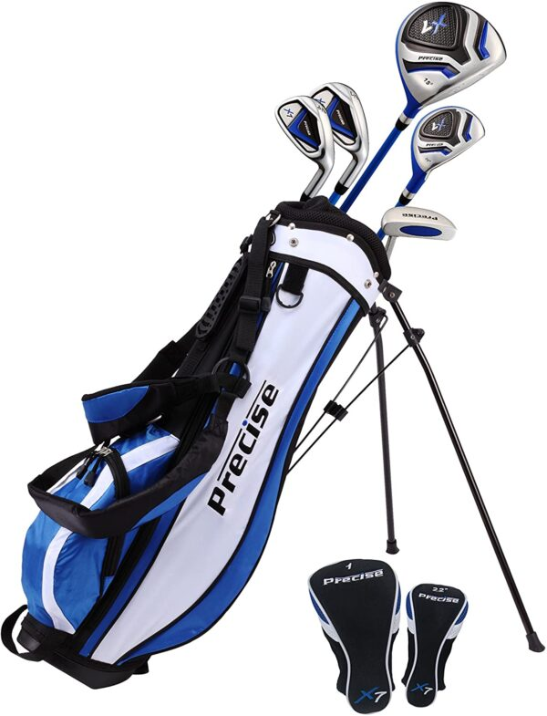 "PreciseGolf Co. Precise X7 Junior Complete Golf Club Set for Children Kids – 3 Age Groups Boys & Girls – Right Hand & Left Hand!</h1><div class=""star-rating""><span style=""width:100%""><strong itemprop=""ratingValue"" class=""rating"">5</strong> out of 5</span></div>"