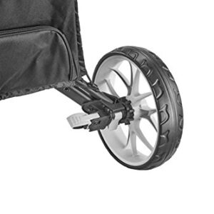 CaddyTek Caddycruiser One Version 8 – One-Click Folding 4 Wheel Golf Push Cart, Silver