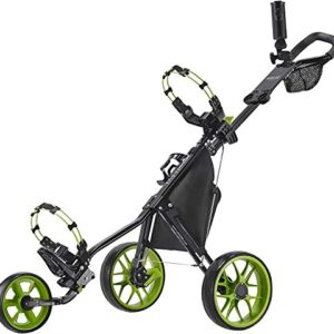 Caddytek CaddyLite 11.5 V3 3 Wheel Golf Push Cart – Superlite Deluxe, Lightweight, Easy to Fold Caddy Cart Pushcart