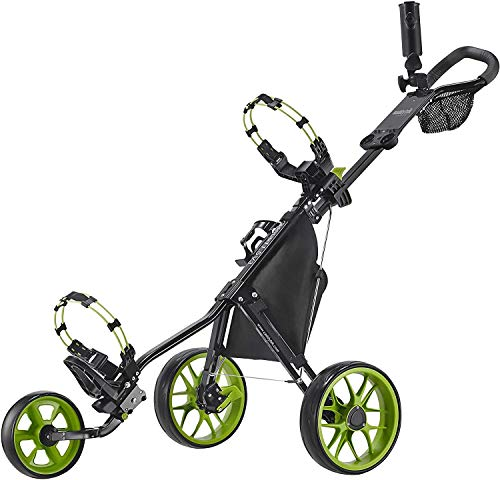 Caddytek CaddyLite 11.5 V3 3 Wheel Golf Push Cart – Superlite Deluxe, Lightweight, Easy to Fold Caddy Cart Pushcart