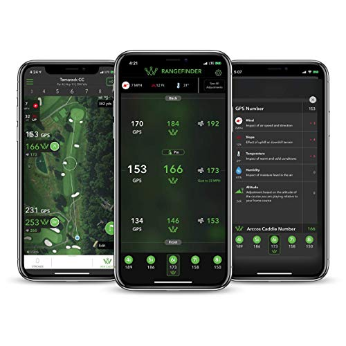 Arccos Caddie Smart Sensors Featuring Golf's First-Ever A.I. Powered GPS Rangefinder (3rd Generation)