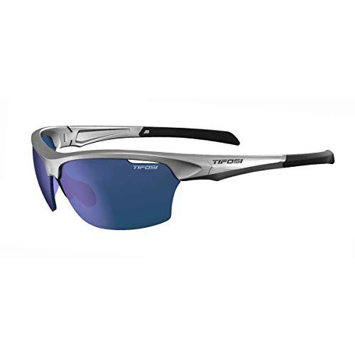 Tifosi Intense Sunglasses Silver/Smoke Blue lenses