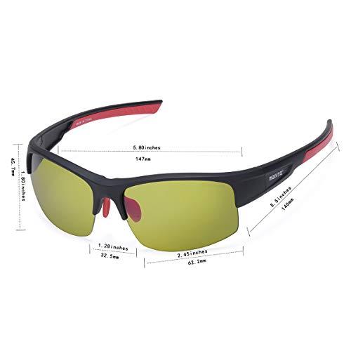 maivnz High Definition Golf Ball Finder Sport Glasses for Men Women Golf Sport Sunglasses Golf Sport Eyewear(Black Frame Green Golf Lens)