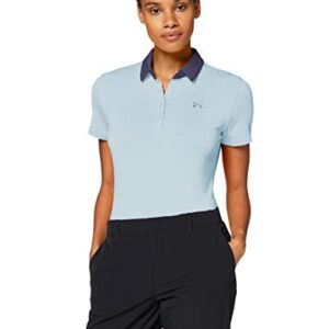 Under Armour Women's Zinger Short Sleeve Golf Polo , Blue Frost (494)/Blue Ink , Medium