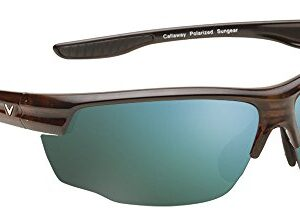Callaway Sungear Kite Golf Sunglasses – Tortoise Plastic Frame, Gray Lens w/Green Mirror