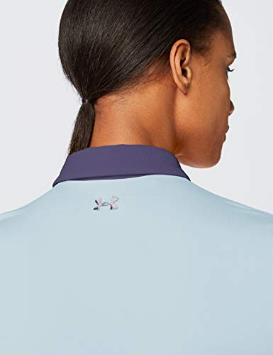 Under Armour Women's Zinger Short Sleeve Golf Polo , Blue Frost (494)/Blue Ink , Medium