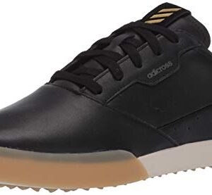 adidas mens Adicross Retro Golf Shoe, Core Black/Gold Metallic/Gum, 10.5 US