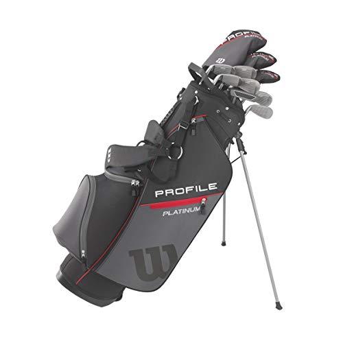 Wilson Golf Profile Platinum Package Set, Men's Right Handed, Regular Carry , Grey/Blue