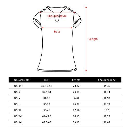 ANIVIVO Women Golf Shirts V-Neck Solid Tennis Shirts for Women, Active Tank Top Shirts for Running& Women Tennis Clothing(Blue,M)