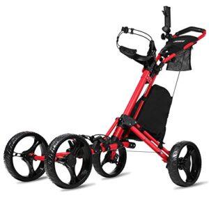 JANUS Golf Push Cart, Golf cart for Golf Clubs, Golf Pull cart for Golf Bag, Golf Push carts 4 Wheel Folding, Golf Accessories for Men Women/Kids Practice and Game