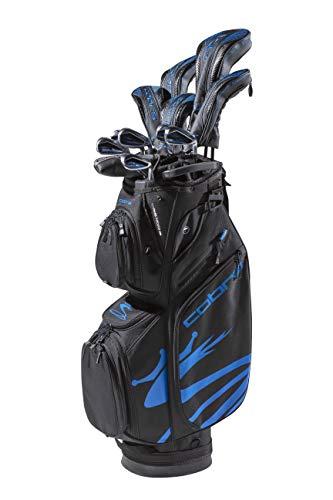 Cobra Golf 2020 Airspeed Complete Set Black-Blue (Men's, Right Hand, Graphite, Senior Flex, 11.5, 3W,5W,4H,5H,6-PW, SW, Putter, Bag)