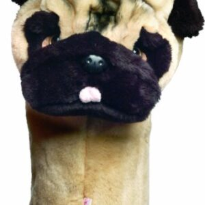 Daphne's Pug Headcovers Brown, 460cc